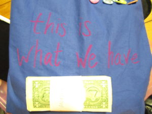 "Bag by Heather Acs, ""this is what we have..."" series."