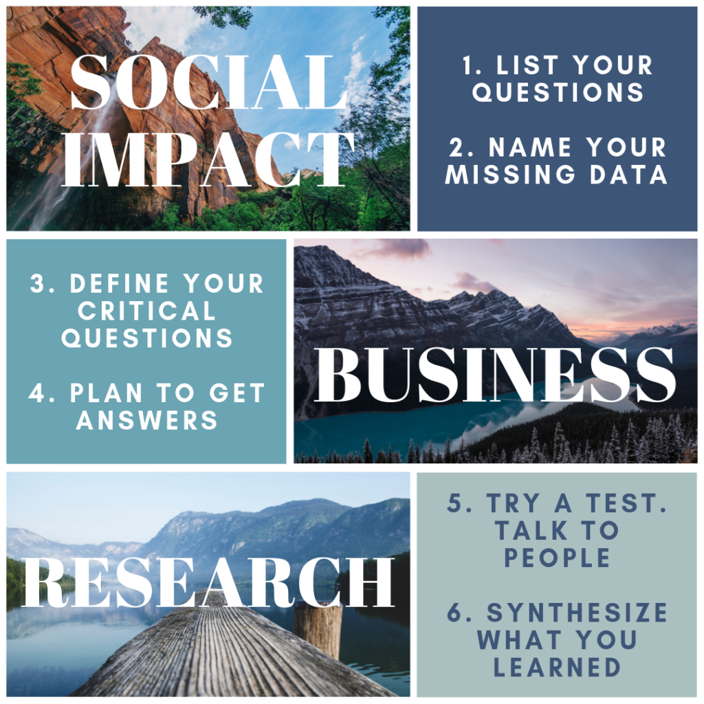 Social Impact Business Research & Test Plan